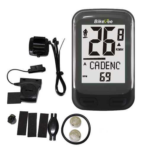 Bikevee BKV-3600 Wireless 23 Functions 2.4G Cadence Sensor Bike Computer  Speedometer Odometer