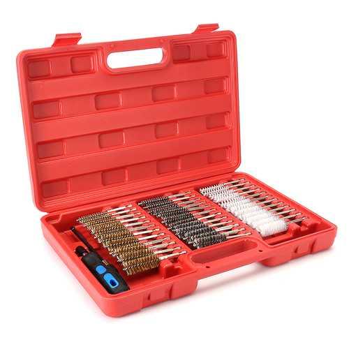 38Pcs Universal Cleaning Kit 8-19mm Nylon Brass Stainless Steel Brush Maintenance Cleaner Set