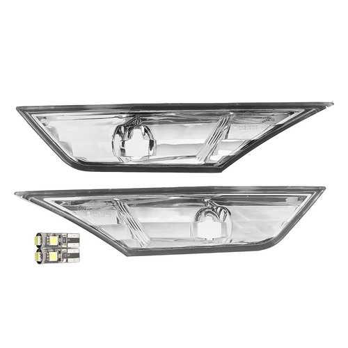 2Pcs Front Left Right Car Clear Lens Bumper Side Marker Lights Plate Lamp for Honda Civil 10TH 16-18