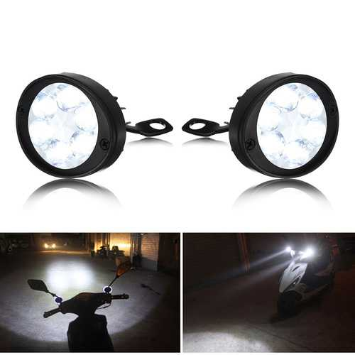 1 Pair 12V-80V 24W 3000LM 6000-6500K Waterproof Motorcycle Spot Fog LED Headlights
