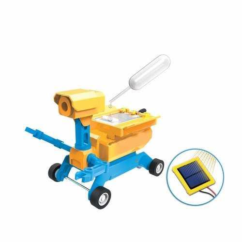 ODEV High Tech Toys Geo STEM Toy Gifts DIY 2-in-1 Salt Water Solar Powered Toy Robot Car Kit For Kids
