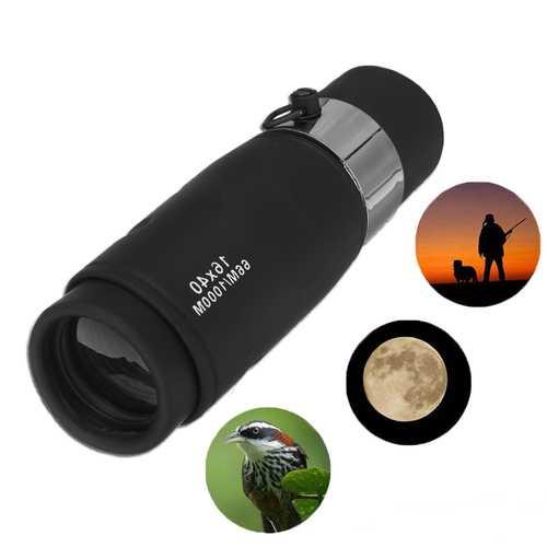 16x40 HD Optical BAK4 Monocular Camping Hiking Day Night Vision Telescope