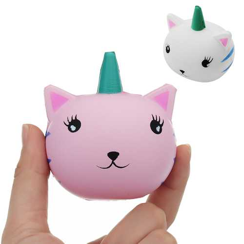 Unicorn Cat Squishy 7.1*6.2CM Slow Rising Soft Collection Gift Decor Toy