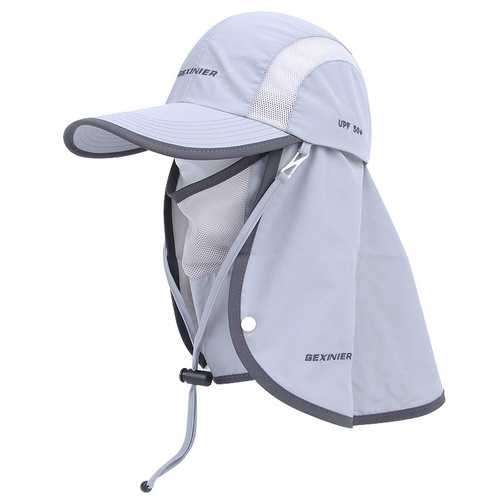 S5222 Hat Sun Protection UPF40+ Removable Multiple Usage Masks Cloak Cap Climbing Trekking Hiking