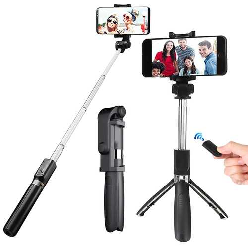 "OLDRIVER L01 bluetooth Remote Control Selfie Stick Tripod for 3.5-6.2"" Smartphones"