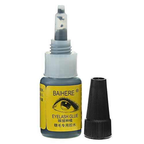 BAIHERE Environmental Protection Thornless Eyelashes Adhesives No Smell Eyelash Glue 10g