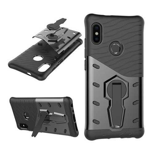 Bakeey Hybrid Shockproof TPU+PC Armor Stand Holder Protective Case For Xiaomi Redmi Note 5