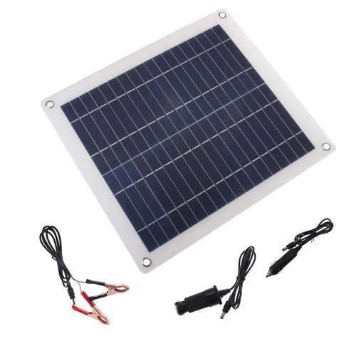 23W Polysilicon Solar Panels Semi-soft Polysilicon Solar Panel for Outdoor Semi-flexible Solar Powered Panel