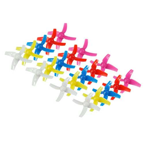 20PCS 48mm 4-Blade Propeller Sets For KINGKONG/LDARC TINY 8X RC Drone Quadcopter