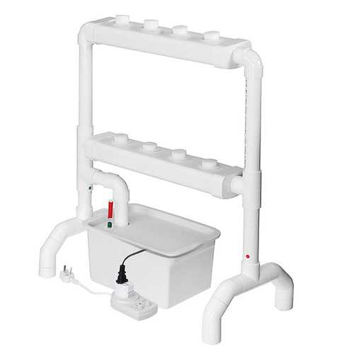 Vertical Hydroponic Flow Through Piping System Site Grow Kit DWC Deep Water Culture Planting Box