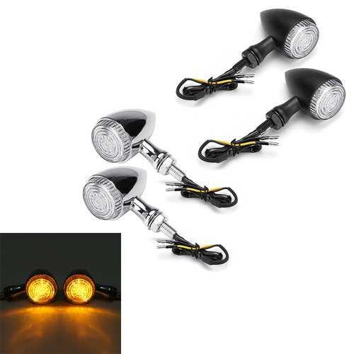 2Pcs Motorcycle Motorbike LED Bullet Signal Turn Lights Indicator Lamp For Harley