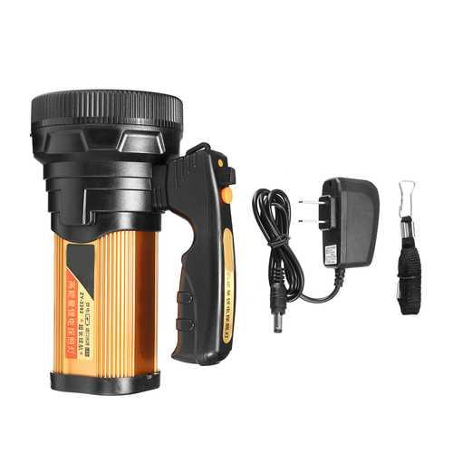 Super Bright Handheld Design Portable Spotlight USB Rechargeable Searchlight  LED Flashlight