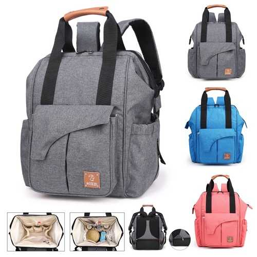 Men Women Diaper Bag Large Capacity Travel Backpack