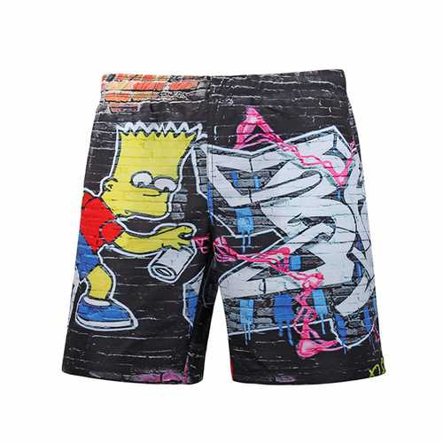S5261 Beach Shorts Board Shorts 3D Graffiti Creativity Printing Fast Drying Waterproof Elasticity