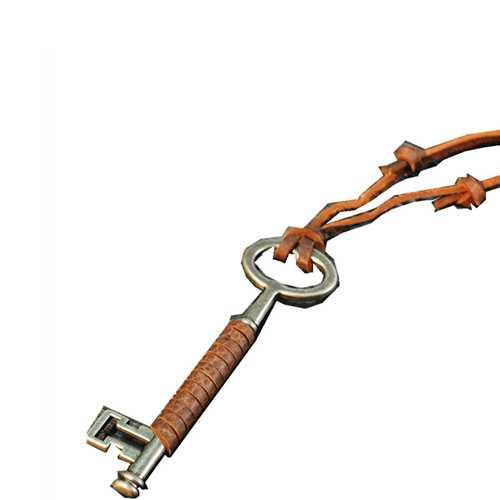 Vintage Key Shape Leather Punk Rock Long Handmade Necklace