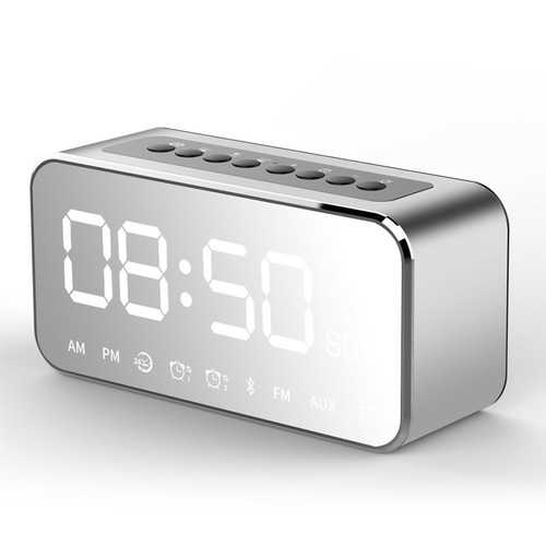 LEADSTAR MX-22 LED Clock Mirror Wireless bluetooth Speaker 1800mAh TF Card FM Raido Subwoofer