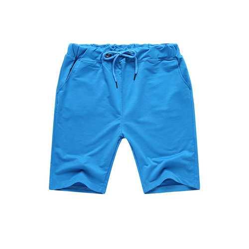 Summer Men's Solid Color Elastic Waist Sports Shorts