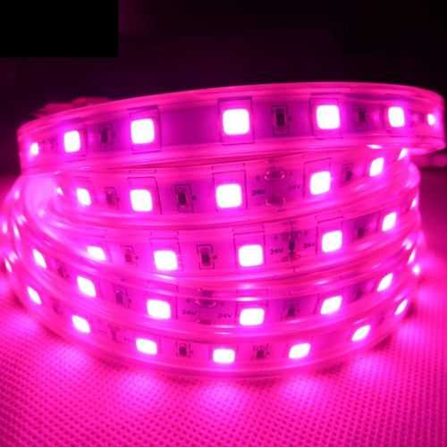 12W 1M SMD5054 60 LED Waterproof Full-spectrum Grow Light Strip with 2 Pin Connector DC24V