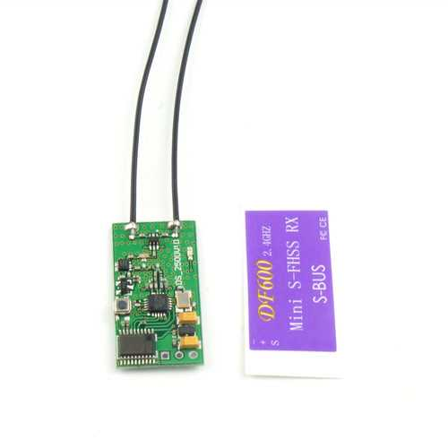 2g DF600 2.4G SBUS Mini Receiver Compatible All Futaba S-FHSS Radio Transmitter 1000M Available