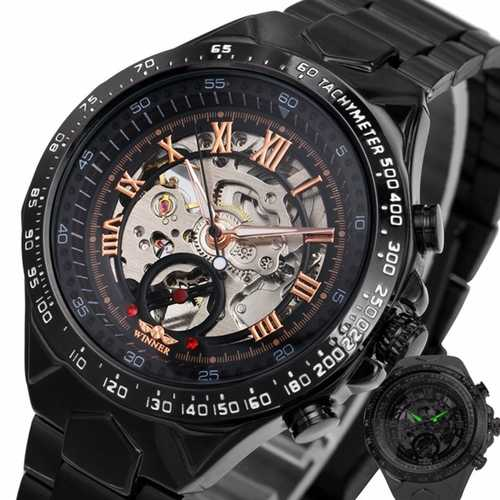 125 Roman Dials Black Case Automatic Mechanical Watch