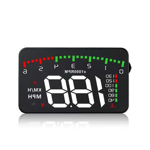3.5 Inch A900 Car HUD Head Up Display OBD2 OBDII Digital Speed Warning Meter