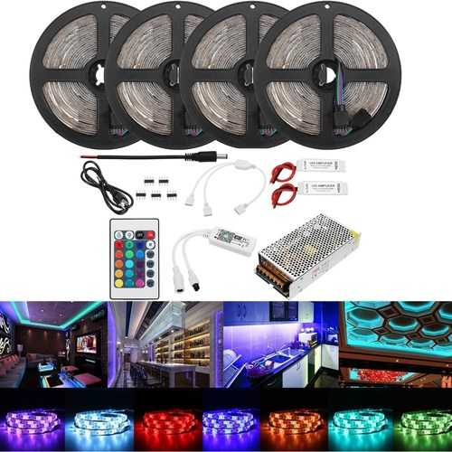 20M 2835 RGB Flexible Waterproof LED Strip Light Kit Alexa Smart Home Wifi Control APP AC110-240V
