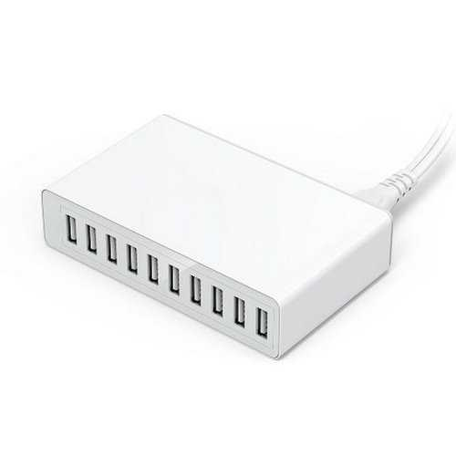 Bakeey 10 Ports USB Charger Smart Desktop Quick Charging USB Charger for Samsung S8 S9 Note 8