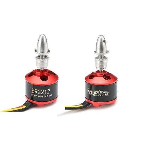 2 PCS Racerstar BR2212 1800KV 2-4S Brushless Motor For RC Models