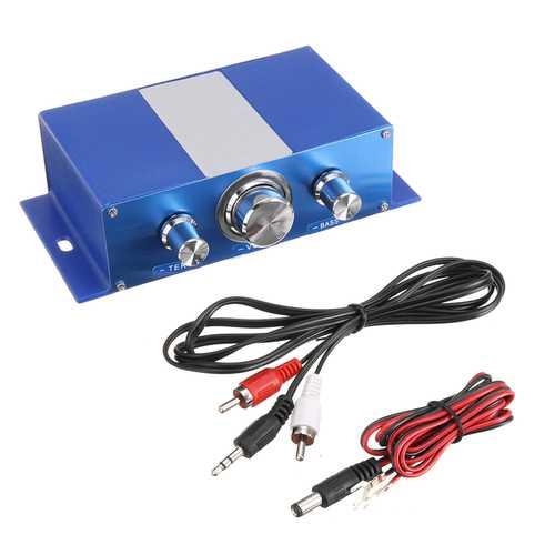 Dual Speaker Power Amplifier Powerful Sound Bass Stereo Audio Power Amplifier