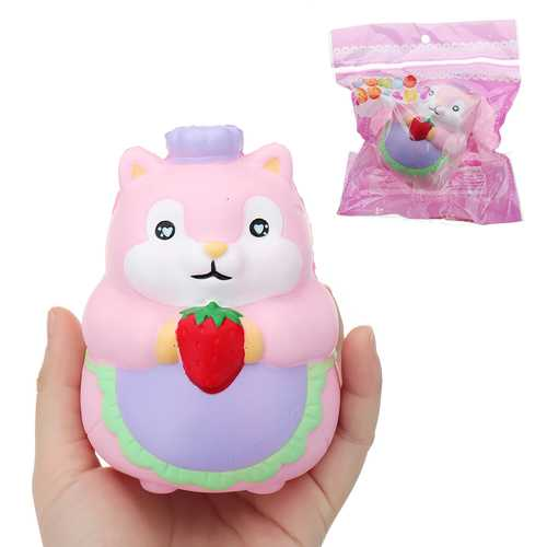 Chef Hamster Squishy 11*8*8cm Slow Rising With Packaging Collection Gift Soft Toy