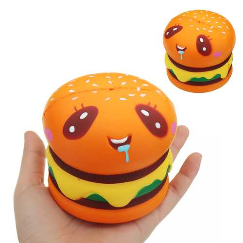Burger Cat Squishy 8*8.5 CM Slow Rising Collection Gift Soft Fun Animal Toy