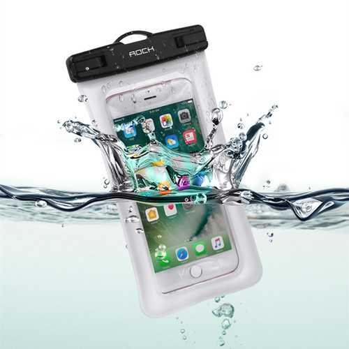 Rock Gasbag IPX8 Waterproof Fingerprint Unlock Screen Touch Phone Pouch Bag for iPhone Xiaomi