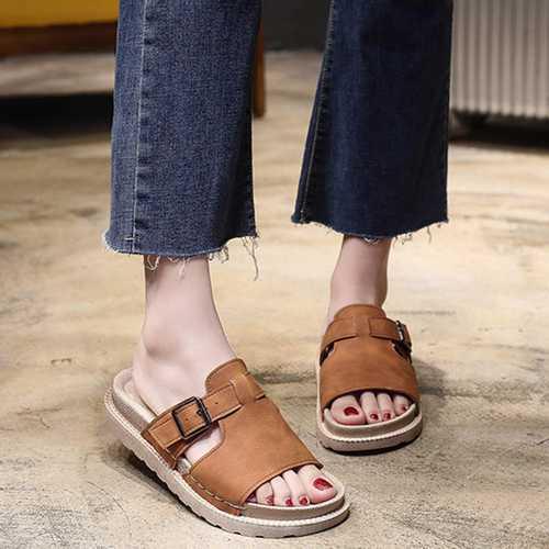 Women Adjustable Buckle Comfortable Casual Sandals