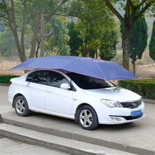 Portable Automatic Car Umbrella Tent Remote Control Operated Waterproof Anti UV