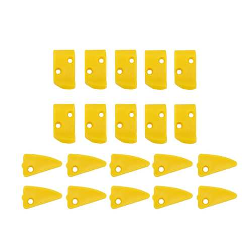 20pcs Yellow Plastic Leverless Protection Finger & Triangle Inserts For Tire Changers
