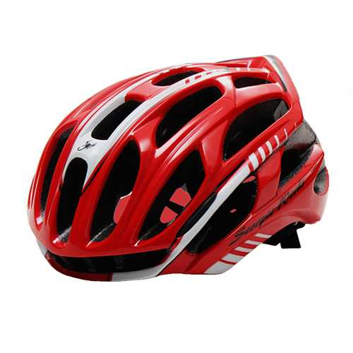 CAIRBULL-03 57-63 cm Ultralight LED Warning Road Bike Cycling Helmet Super Ventilative Helmet