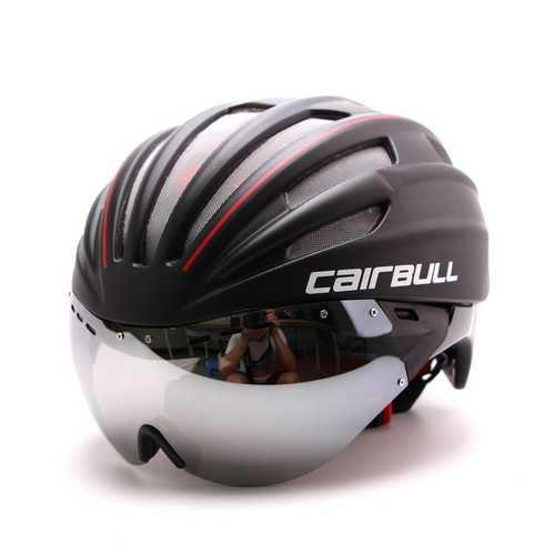 CAIRBULL-11 55-61cm Ultralight Protective Cycling Helmet Goggles Integrally 28 Ventilation Holes