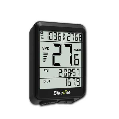Bikevee  BKV-1517 Wireless 12 Functions LED Backlight Cyclometer Bike Speedometer Odometer Computer