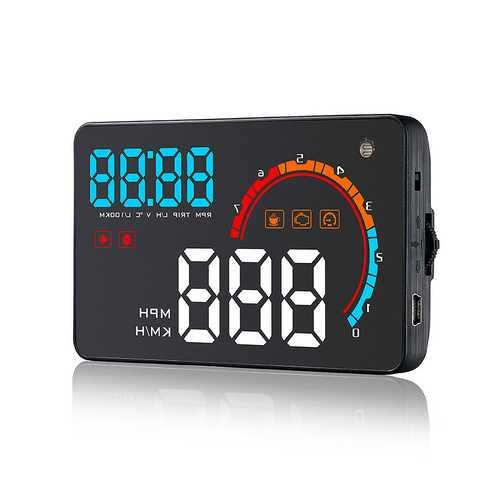 D2000 4 Inch Universal Car HUD Head Up Display OBD2 OBDII Meter Speed Warning