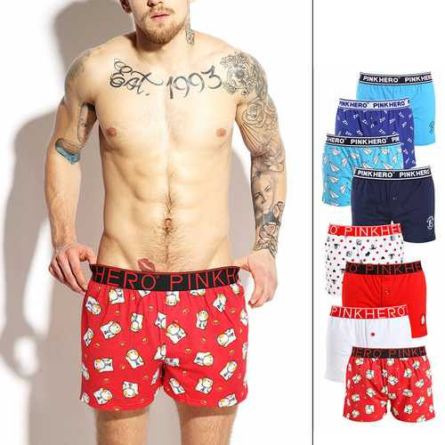 Arrow Pants Button Opening Printing Cotton Soft Comfy Boxers