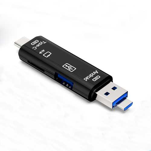 Universal 5-in-1 OTG Card Reader Micro USB Type-c TF Card Reader For Phone Computer Memory Card