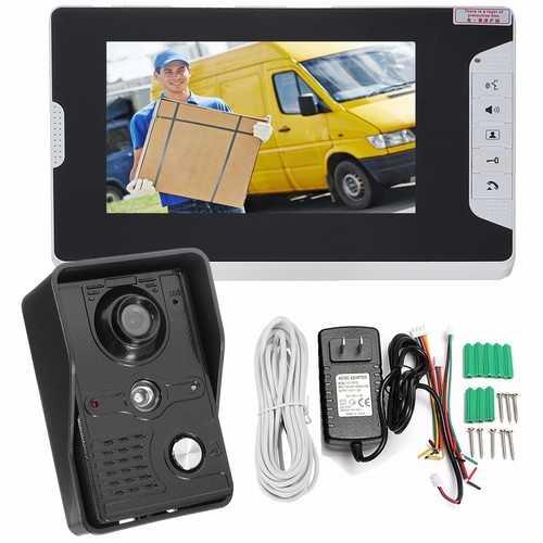 7inch LCD Video Doorbell Intercom IR Camera Monitor Night Vision Home Security