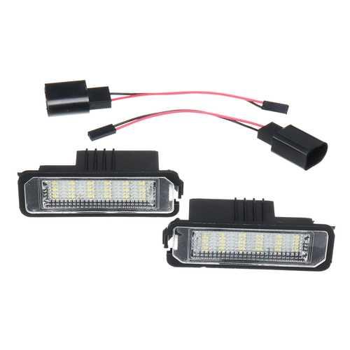 2PCS 18 LED License Number Plate Car Lights For VW Golf MK4 MK5 MK6  Passat Lupo Polo 9N