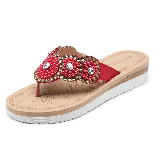 Bohemian Casual Pearl Beach Slippers