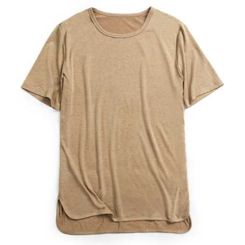 Charmkpr Mens Cotton Linen O-neck Casual T-Shirts