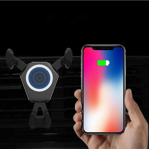 Bakeey 10W Fast Qi Wireless Charge Auto Lock Car Mount Air Vent Phone Holder for Samsung S8 S8+