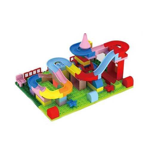 WLtoys 78PCS/Set Big Size Blocks Toys Creat Power Star Railway Track Kid Developmental Building Toy Gift