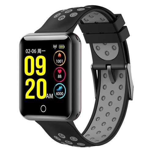 Bakeey Q18 1.54 inch Color Screen IP68 Waterproof Heart Rate Blood Presure Monitor Smart Wristband