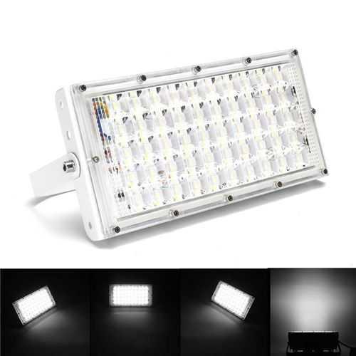 50W  White Light LED Flood Light Waterproof White Shell Landscape Garden Lamp for Outdoor AC185-265V