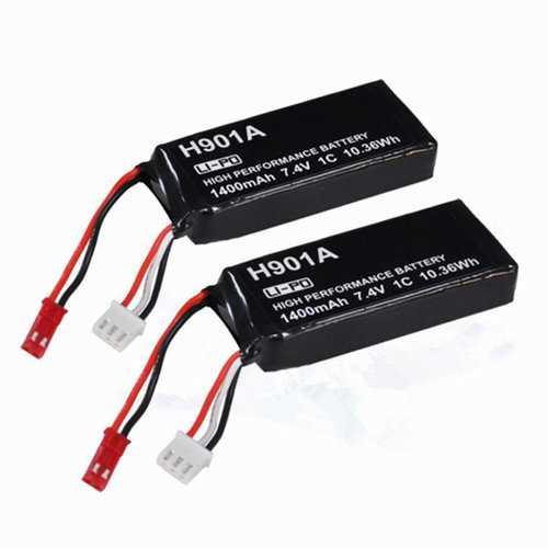 2Pcs 7.4V 1400mAh Lipo Transmitter Battery For Hubsan X4 H501S H502S H109S H901A H906A Transmitter